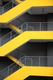 Escaliers d'évasion de secours Photographie stock