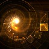 Escaliers d'or Image libre de droits