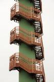 Escaliers d'enroulement Images libres de droits