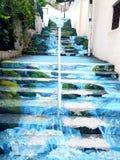 escaliers 3D et peinture parfaite Images libres de droits