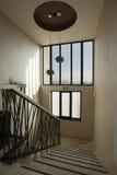Escaliers d'hôtel de luxe image stock