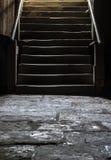 Escaliers d'une cave image libre de droits
