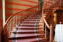 Escaliers dans le château Photographie stock libre de droits