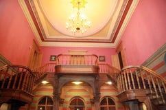 Escaliers dans le château Photos libres de droits