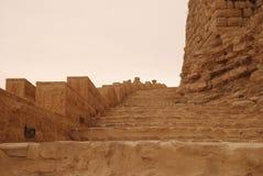 Escaliers dans le château de Kerak Photographie stock libre de droits