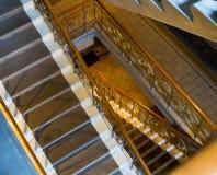Escaliers dans les caves le ` de Massandra de ` d'usine de vin, Crimée Image libre de droits