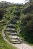 Escaliers dans les dunes photos stock