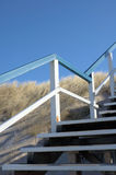 Escaliers dans les dunes images libres de droits