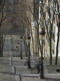 Escaliers dans Monmartre. image libre de droits