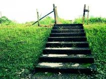 Escaliers dans un domaine Images libres de droits