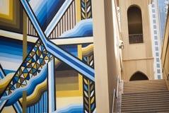 Escaliers dans un sordide à Dubaï Photo libre de droits