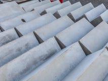 Escaliers de béton préfabriqué en stock de panneau images libres de droits