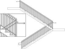 escaliers de balustrade illustration libre de droits