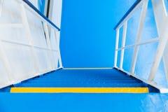 Escaliers de bateau de croisière Photographie stock