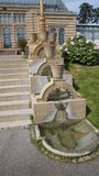 Escaliers de construction historiques de parc de l'Allemagne de zoo de Wilhema photos stock