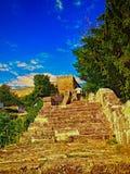escaliers de forteresse Photo libre de droits