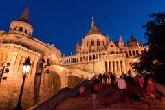 Escaliers de la bastion du pêcheur à Budapest Image libre de droits