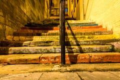 Escaliers de la musique. Image stock