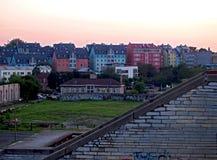 Escaliers de Linnahall, Tallinn, Estonie Photographie stock libre de droits