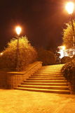 Escaliers de lumière Images stock