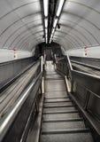 Escaliers de métro Photos libres de droits