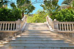 Escaliers de marbre Images libres de droits