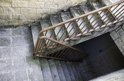 Escaliers de marbre intérieurs Photographie stock