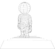 Escaliers de marche d'homme de la marionnette 3d Photo libre de droits