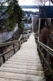 Escaliers de Pispala à Tampere Finlande image libre de droits
