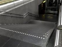 Escaliers de plate-forme de train Photo stock