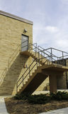 Escaliers de porte de sortie Photos stock