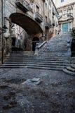 Escaliers de Pujada de Sant Domenec à Gérone images stock
