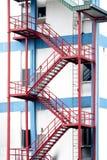 Escaliers de sortie de secours Photographie stock