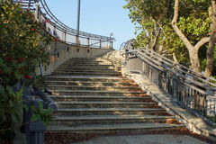 Escaliers de trottoir dans West Palm Beach, la Floride Photo stock