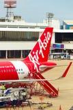 Escaliers Don Mueang d'avion d'Air Asia de section de queue Image stock