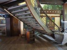 Escaliers en bois Photos stock