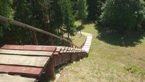 Escaliers en bois photos libres de droits