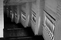 Escaliers en bois d'église Photo stock