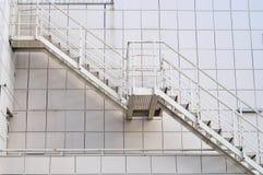 escaliers en métal photographie stock