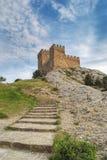Escaliers en pierre aboutissant à dominer Photo stock