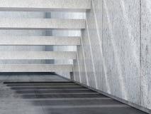 Escaliers en pierre et plancher en béton 3d rendent Photographie stock libre de droits