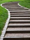 Escaliers en pierre incurvés par S image stock
