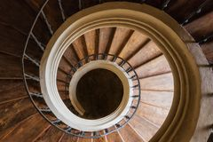 Escaliers en spirale de la cathédrale de l'acceptation de notre Madame chez Sedlec, Santiny Image libre de droits