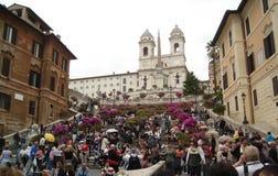Escaliers espagnols à Rome, Italie Photographie stock libre de droits