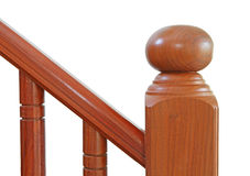 Escaliers et balustrade en bois Photographie stock