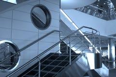 Escaliers et hublots, Domodedovo Image libre de droits