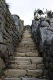 Escaliers et murs en pierre Machu Picchu Peru South America Photos libres de droits