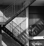 Escaliers et ombres Photo libre de droits