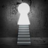 Escaliers et portes de magie photographie stock libre de droits