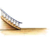 Escaliers et étage Photo stock